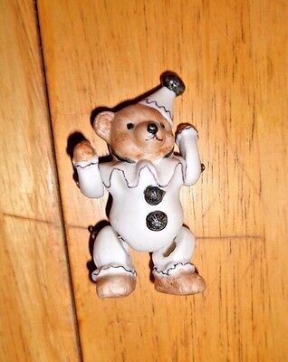 """Xrare Antique 3""""porcelain Clown Bear-Articulated With Wire-"""