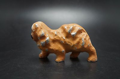 VTG Painted Metal PEKINGESE Dog Peke