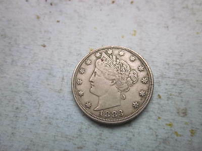 "1883 LIBERTY NICKEL ""NO cents"" GOOD FULL ""LIBERTY"" FIRST YEAR NICKEL"