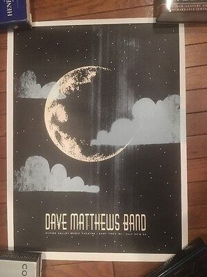 Dave Matthews Band DMB Alpine Valley Moon Poster 2005 East Troy Patent Pending