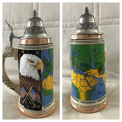 Limited Edtn King Made in Germany Lidded Beer Stein Operation Enduring Freedom