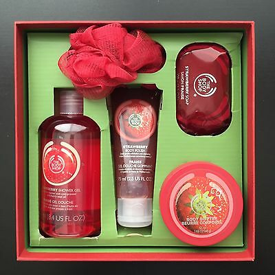 The Body Shop Strawberry Classics Gift Set - Shower Gel Body Butter Body Polish