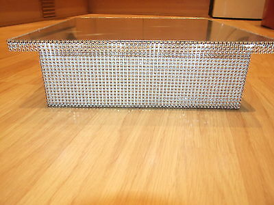 """12"""" 14"""" 16"""" 18""""  square or round diamante effect light up wedding cake stand"""