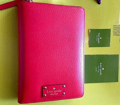Kate Spade  Wellesley zip around personal organizer for 2017 (cherry liqueur)