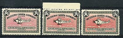 Weeda Canada CL40, a, b VF MNH pink, pale rose, dark red backgrounds CV $24+