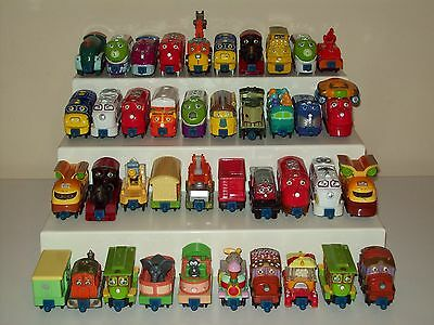 LEARNING CURVE Chuggington HUGE Lot of 40 Diecast Trains All Different Some RARE