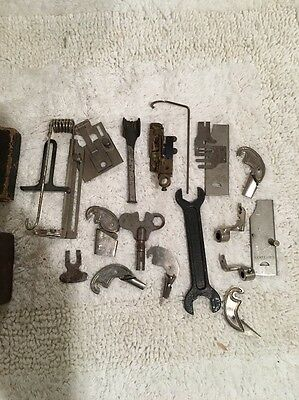 Rare Antique Weed Sewing Machine Parts Lot With Original Box