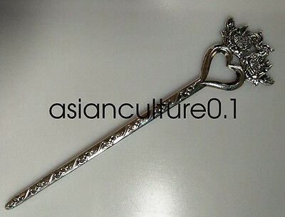 China decorations Miao silver Handmade Exquisitefashion Hairpin mandarin duck