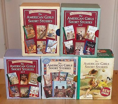 American Girl COMPLETE Sets of ALL 33 SHORT STORIES in 5 Original Cases ~ RARE !