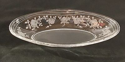 """Fostoria WILLOWMERE CRYSTAL *8 1/2"""" HANDLED OVAL PICKLE BOWL*"""