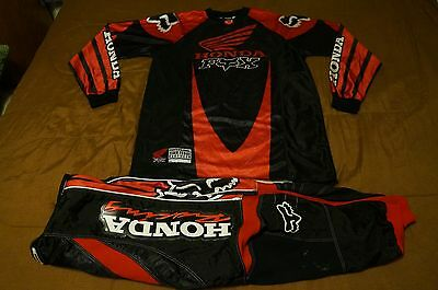 Honda Fox Team Issue Jersey Size M Pants Size 30 Red Black Mikey #73
