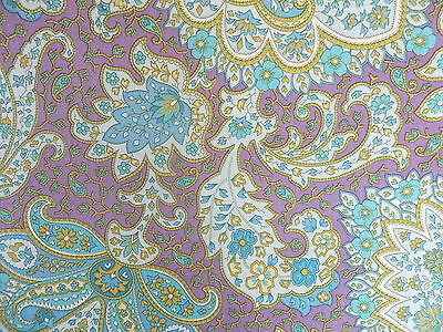 CROWN   WALLPAPER   PSYCHEDELIC   Paisley  PURPLE   1 Metre         VINTAGE