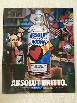 ABSOLUT BRITTO ABSOLUT VODKA 2004 Original Magazine AD