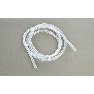 1.5MPlastic Spiral Wire Organiser Manage Cord  PC Computer office Home Cable 7mm