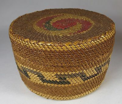 Antique NATIVE AMERICAN INDIAN Makah Nuu-chah-nulth BASKET Pacific Northwest