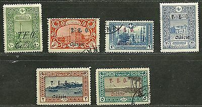 FRENCH CILICIA 1919 Fine Mint & Used Hinged Stamp Scott# 71/84 Retail 43.60$