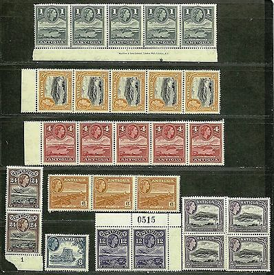 ANTIGUA 1953-56 Amazing Very Fine MNH Stamp Set Scott# 108/116 CV 43.00$