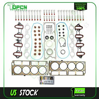 Head Gasket Bolts Set For Chevrolet Colorado Silverado Suburban Tahoe 4.8L 5.3L