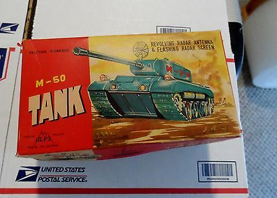 Alps Tin Toy  M-50  Tank Friction Toy IN BOX !