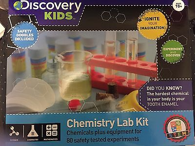 Discovery Kids Chemistry Lab Science Kit! Over 80 Experiments Bnib!