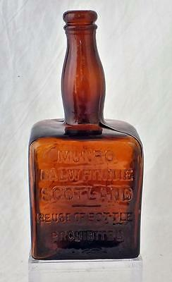 Antique Square Bottle Whisky Whiskey Munro Dalwhinnie Scotland