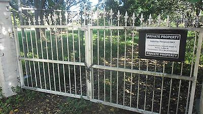 Ornate Double Driveway Gates 330cm width and FREE untested Electric Gate Opener?
