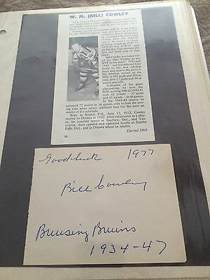 Autograpgh Of Bill Cowley With Photo Deceased Hofer