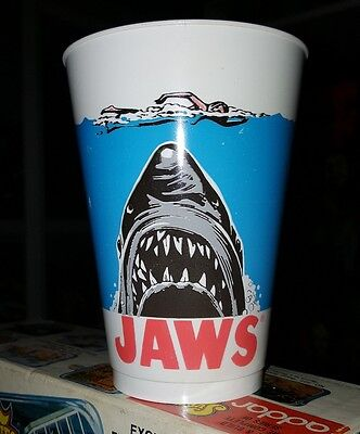 Unused vintage 1975 JAWS Movie 7 Eleven Promotional cup Universal Pictures 7-11