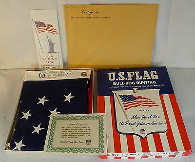 Vintage Bull-Dog Bunting Flag Flown Over Capitol July 4Th, 1960 Cong Loser