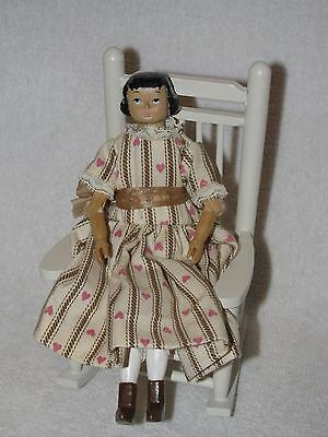 Beautifully Hand Carved Wooden Hitty Doll By Larry Tycksen For UFDC 2001~ Signed