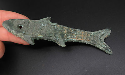 Ancient Bronze Age Chinese Fish Amulet EC76
