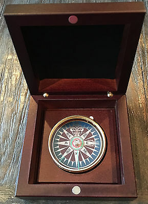 New Collectible MINI POCKET COMPASS with Wooden Box from Veritas Technologies