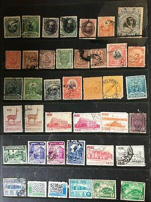 stamps Peru - Early Used - Lot 95