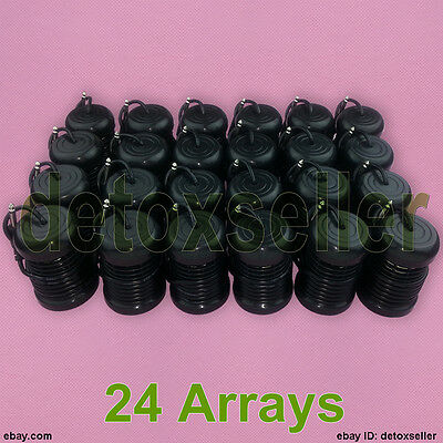 Special Offer 24 Round Array Arrays Ionic Ion Detox Foot Spa Bath Cell Machine