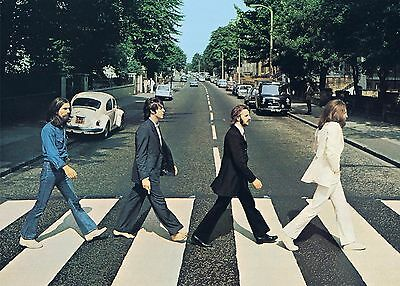 The Beatles Abbey Road Art Print 24x36 Canvas / Gloss HD Poster