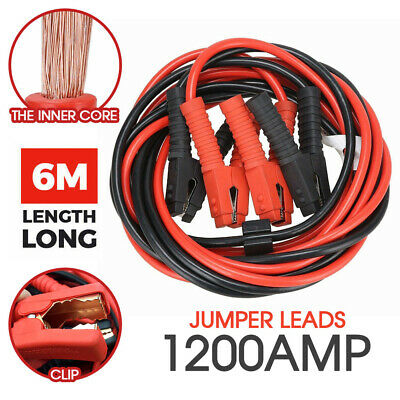 1200AMP 6M Jumper Lead Cable Wire Heavy Duty Clips Booster Cables Truck AU