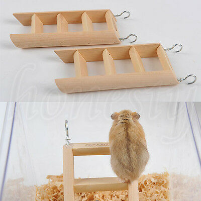 1pc Hamster Toys Rat Harness Parrot Wooden Ladder Pet Small Animal Exercise Toy