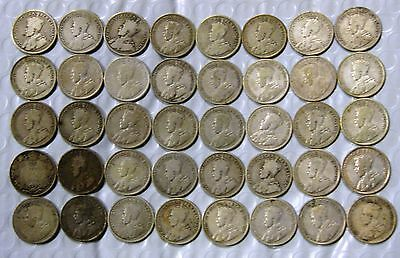 Full Roll (40) Canada 25 Cents *** all King George V