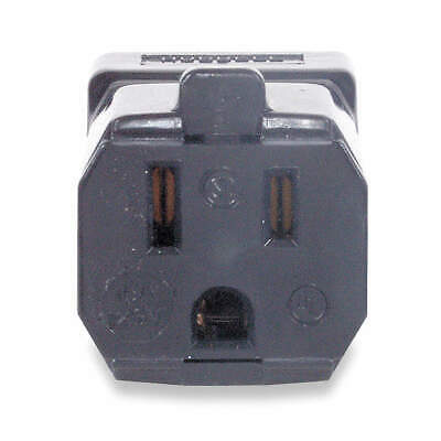 HUBBELL WIRING DEVICE-KELLEMS Nylon Connector,5-15R,15A,125V, HBL5969VBLK