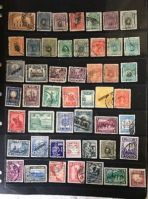 stamps  Peru - Early Used  - lot 96