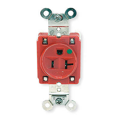 HUBBELL WIRING DEVICE-KELLEMS Receptacle,Single,20A,5-20R,125V,Red, HBL8310R