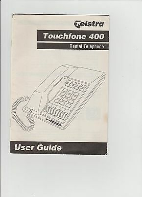 Telstra Touchfone 400 Rental Telephone User Guide only