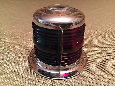 Perko Vintage Antique Ribbed Glass Bow Light for Marine Boat blue/red glass lens