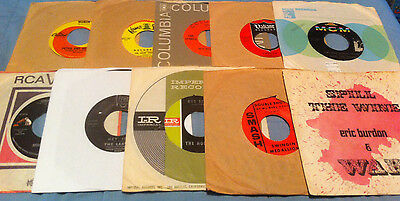 LOT OF 10 PSYCH/ROCK/POP/GARAGE 60s Vinyl 45s pic & some orig. company sleeves