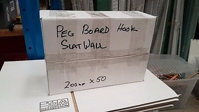50 x 200mm Slatwall pegboard hooks used in good condition. CHEAP!!!
