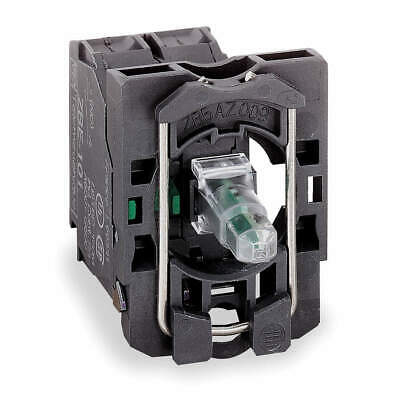 SCHNEIDER ELECTRIC Lamp Module and Contact Block,22mm,2NO, ZB5AW063, Clear
