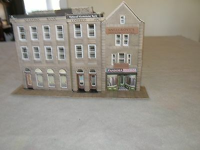 model train building of 2 banks and a store in ho scale