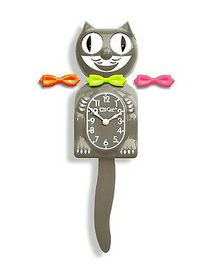 AUTHENTIC Kit Cat Clock Modern Art 3 interchangeable Bow Ties Ship in 24 Hrs.