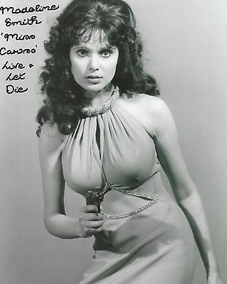 MADELINE SMITH Autograph -  Beautiful 8x10 Authentic Signed Photo 007 Bond Girl