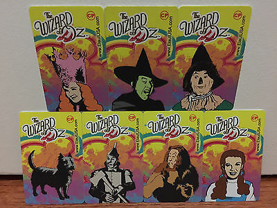 ELAUT - Set of 7 Wizard of Oz Cards - Includes TOTO - Casino Pier - Coin Pusher
